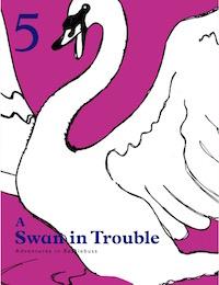 swan in trouble