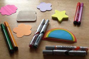 Coloured-Pens-&-Sticky-Notelets!